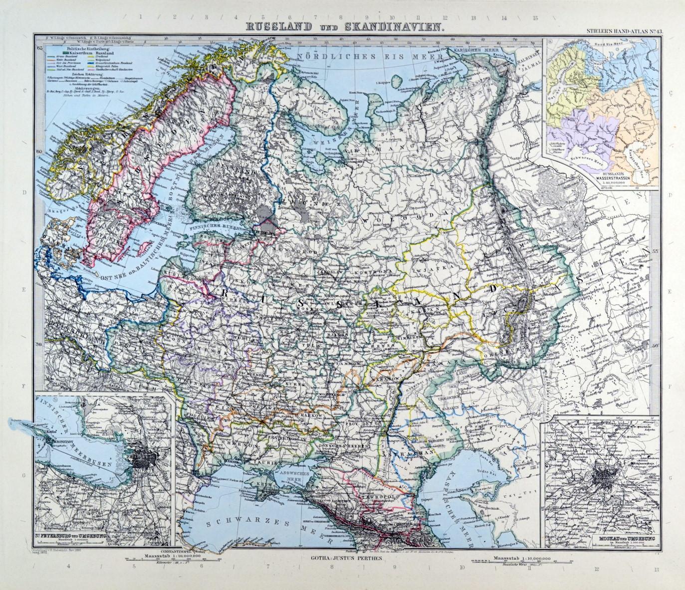 Karte Skandinavien.Russland Karte