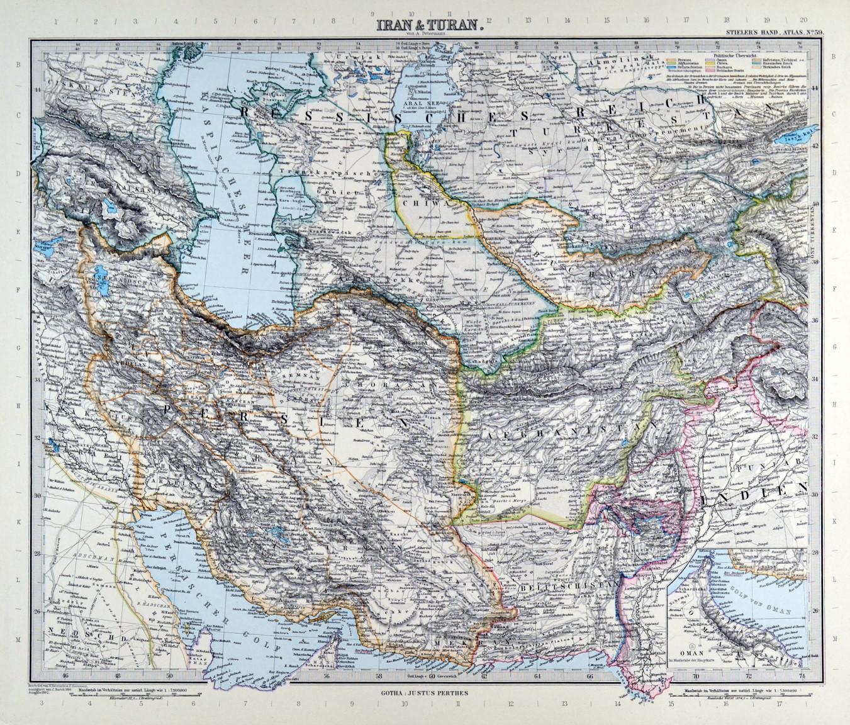 Persien Karte.Persien Karte