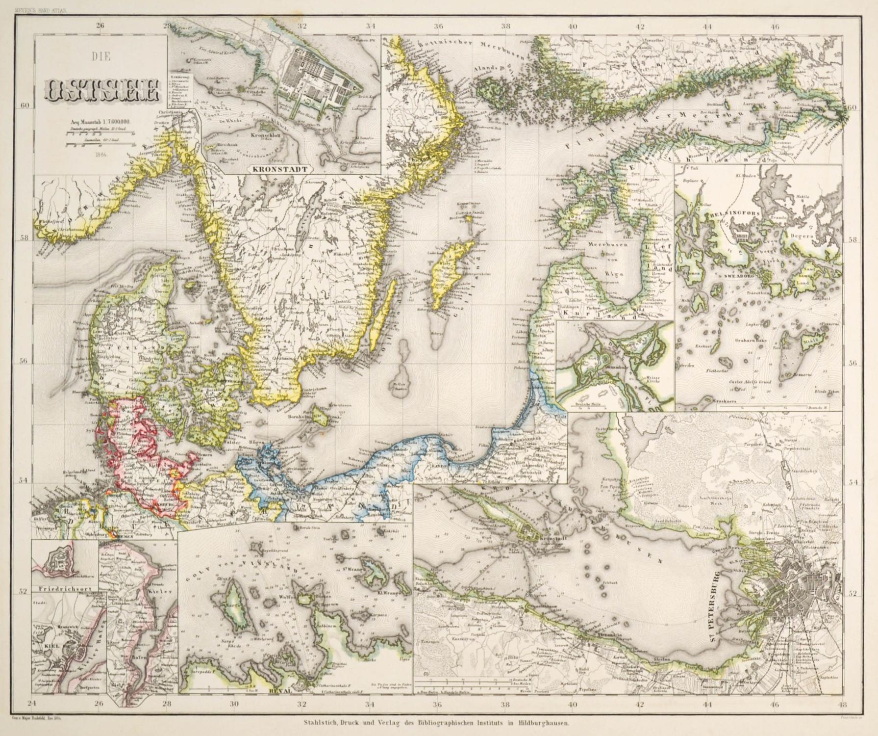 Karte Ostsee.Ostsee Karte