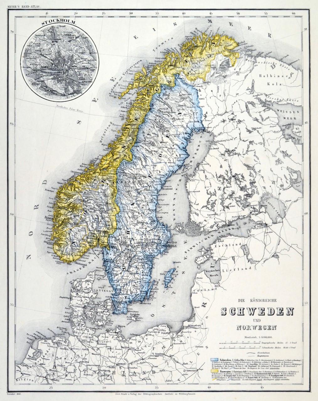 Karte Norwegen.Skandinavien Karte