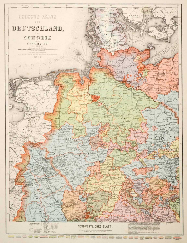 vialibri deutschland karte neueste karte von deutschland der schweiz und ober italien in. Black Bedroom Furniture Sets. Home Design Ideas