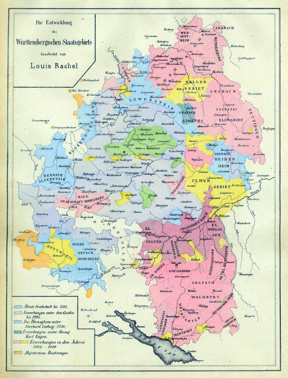 württemberg karte WÜRTTEMBERG.   Karte.