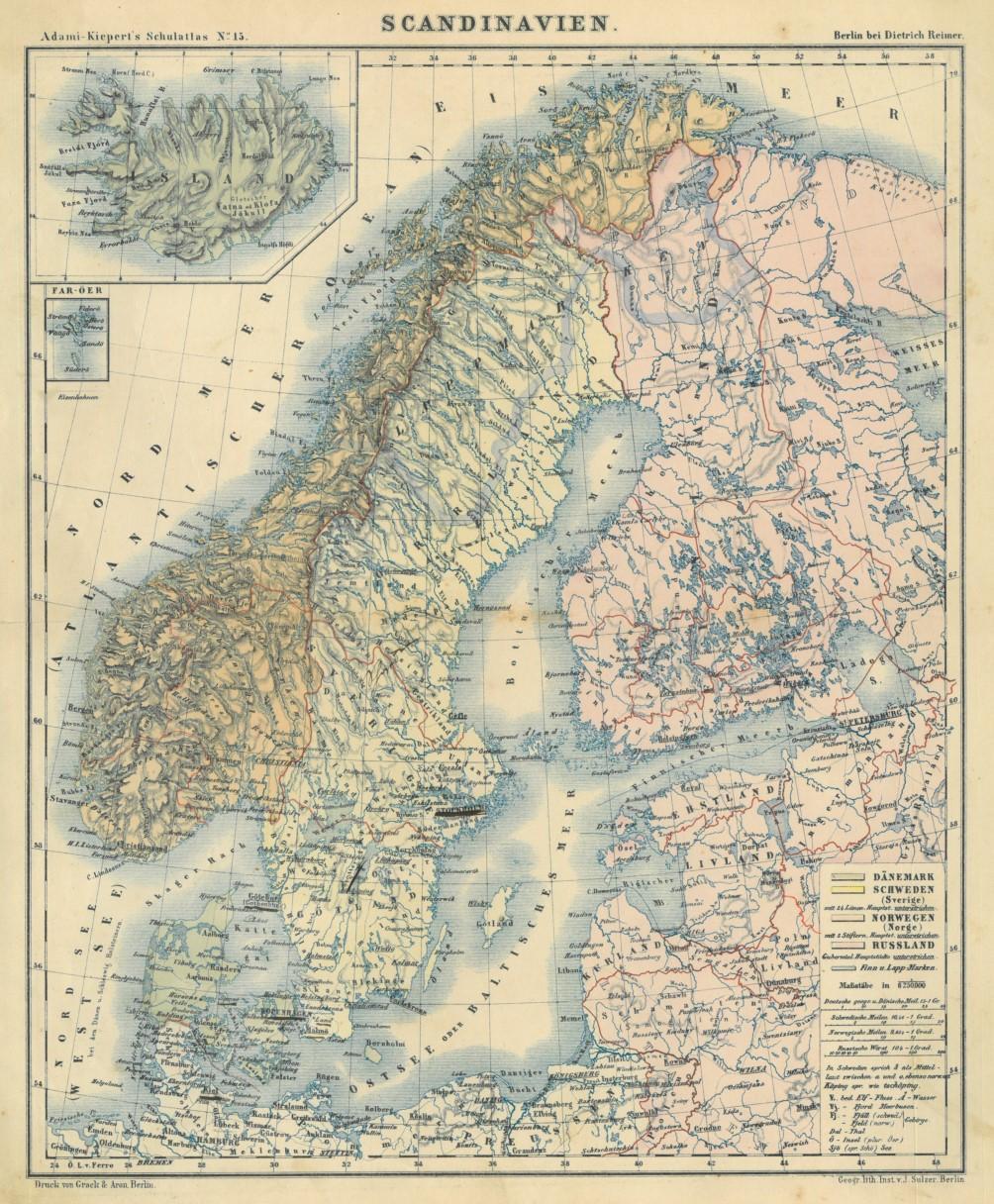 Karte Skandinavien.Skandinavien Karte Scandinavien Zvab