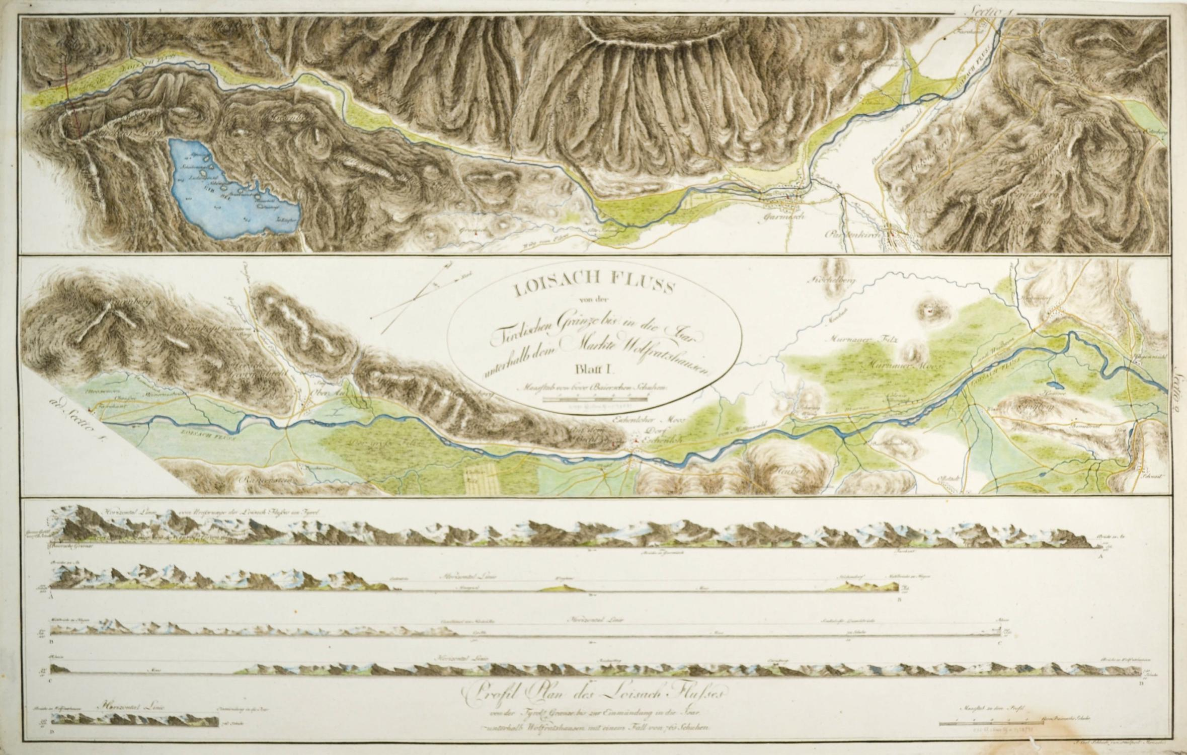 Isar Fluss Karte.Loisach Karte