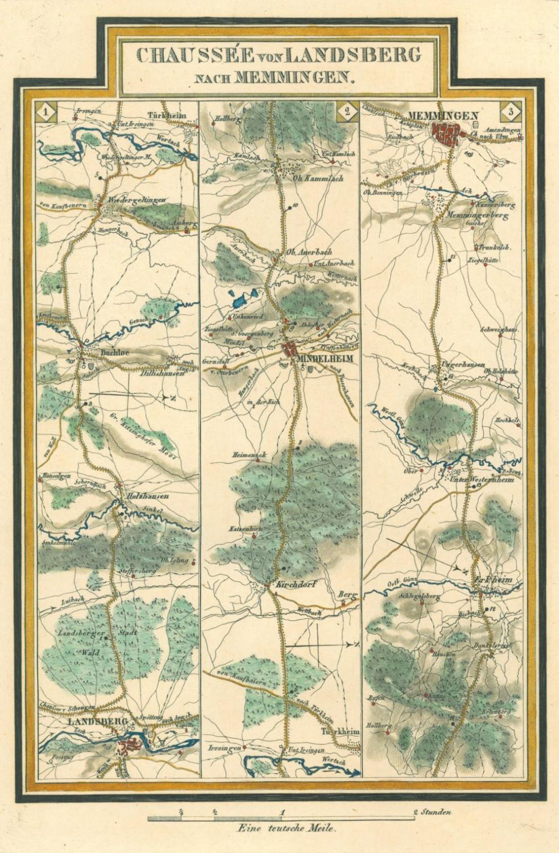 Landsberg Memmingen Karte Chaussee Von Landsberg Nach