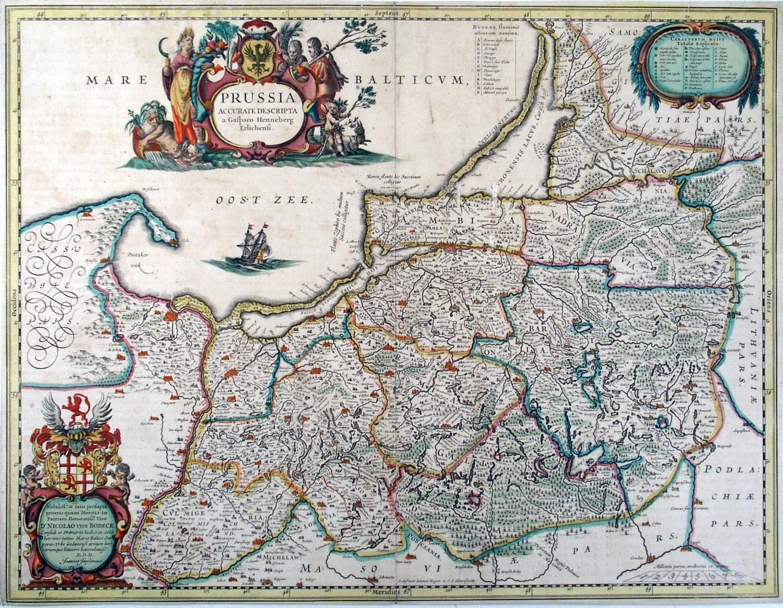 Karte Ostpreußen.Ostpreussen Karte