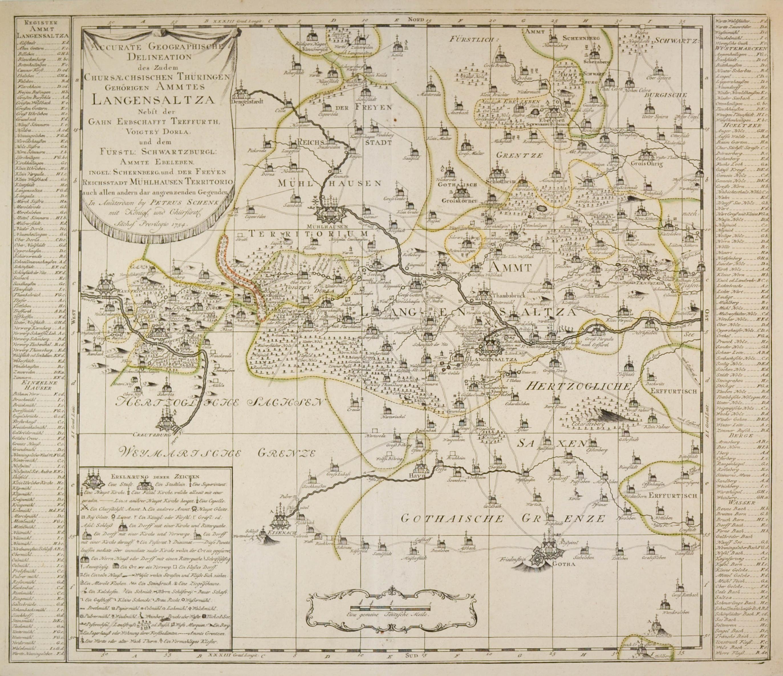 "LANGENSALZA. - Karte. ""Accurate Geographische Delineation des"