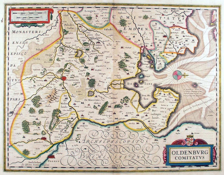 Vialibri Oldenburg Karte Oldenbvrg Comitatvs