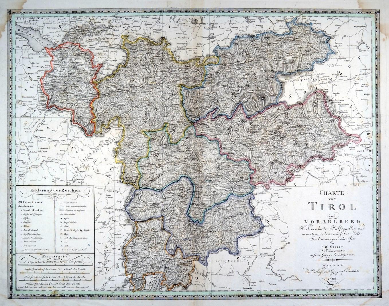 Karte Tirol.Karte Von Tirol Zvab