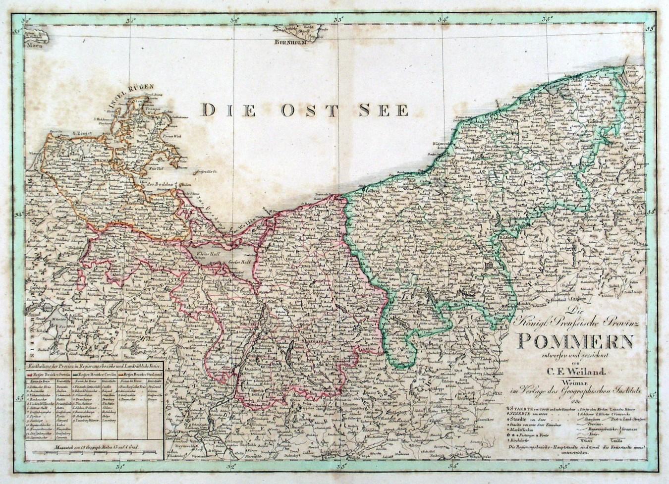 pommern karte POMMERN.   Karte.