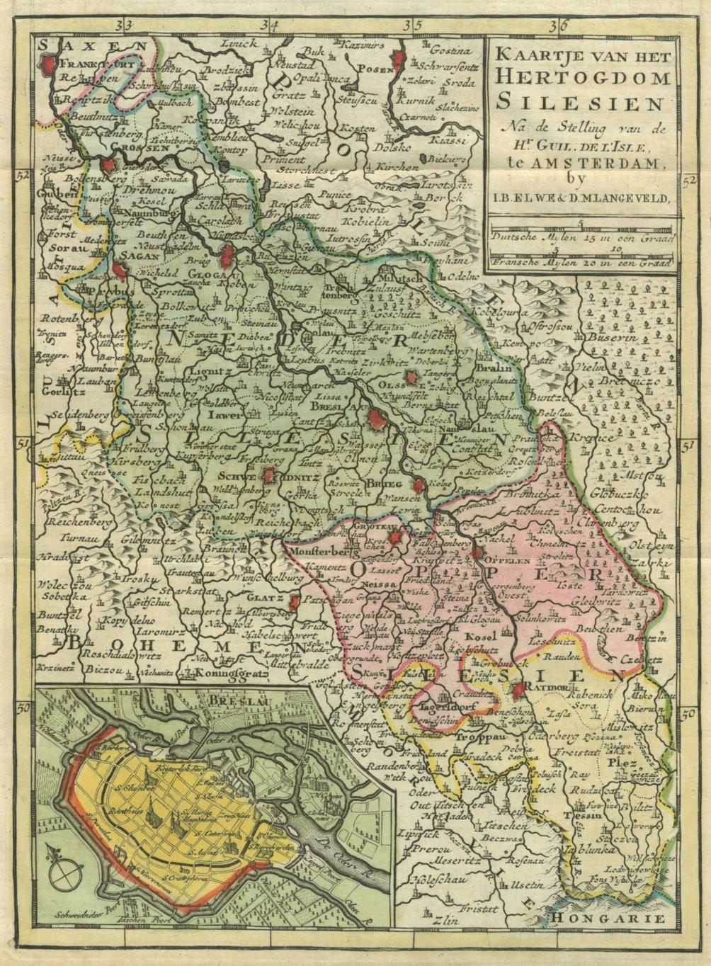 Schlesien Karte Deutsche Ortsnamen.Schlesien Karte Die Zvab