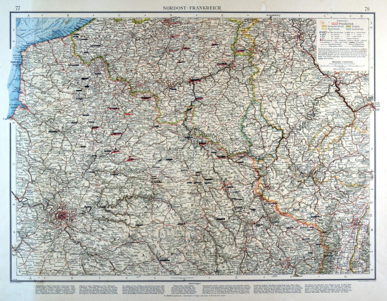 Nordfrankreich Karte.Frankreich Nordfrankreich Karte