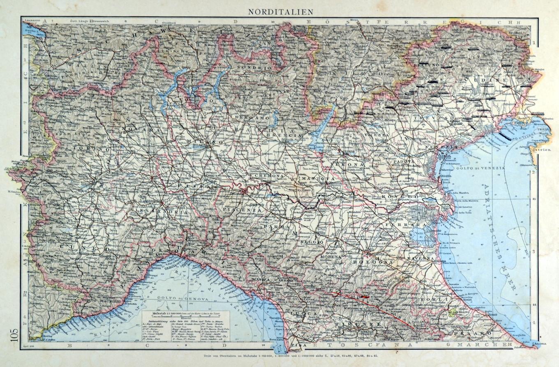 Norditalien Karte.Italien Norditalien Karte Zvab