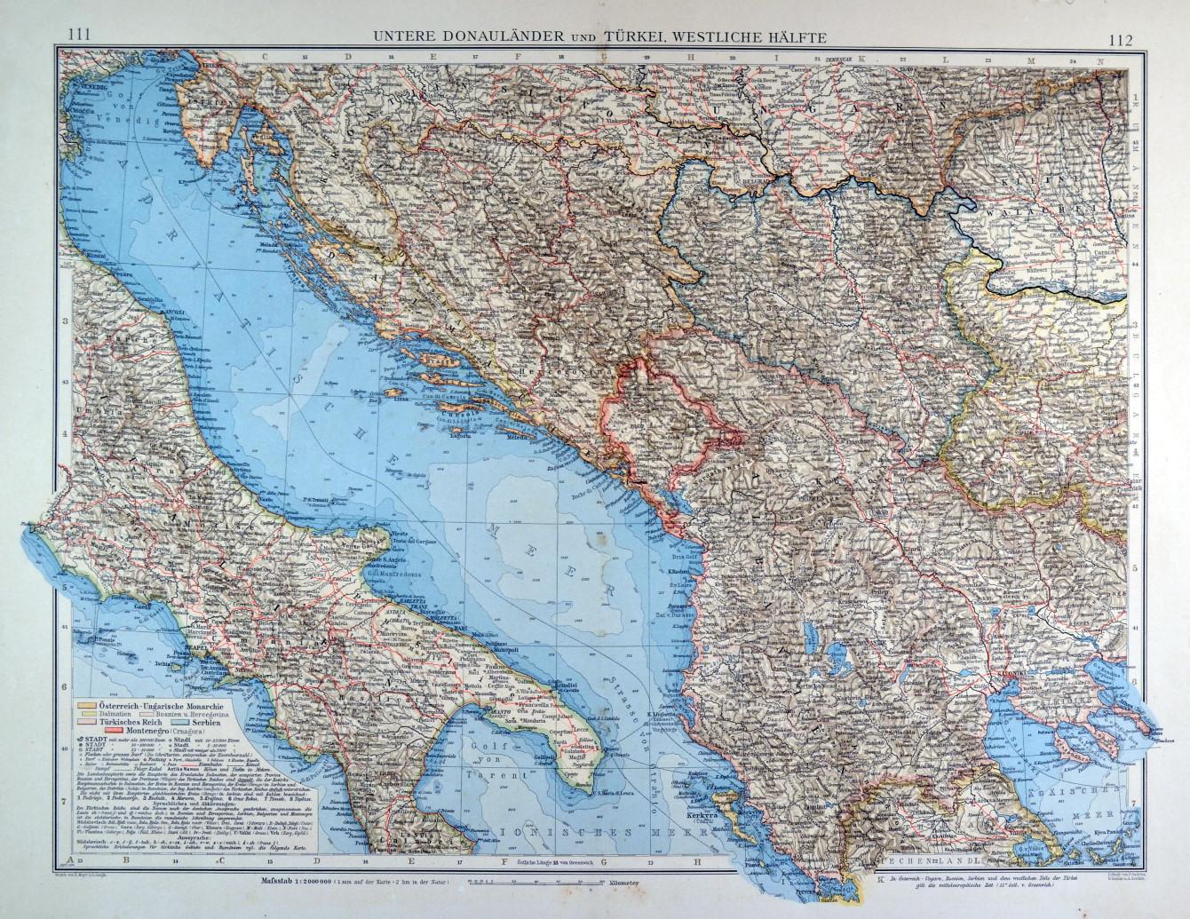 Alte Jugoslawien Karte.Jugoslawien Karte