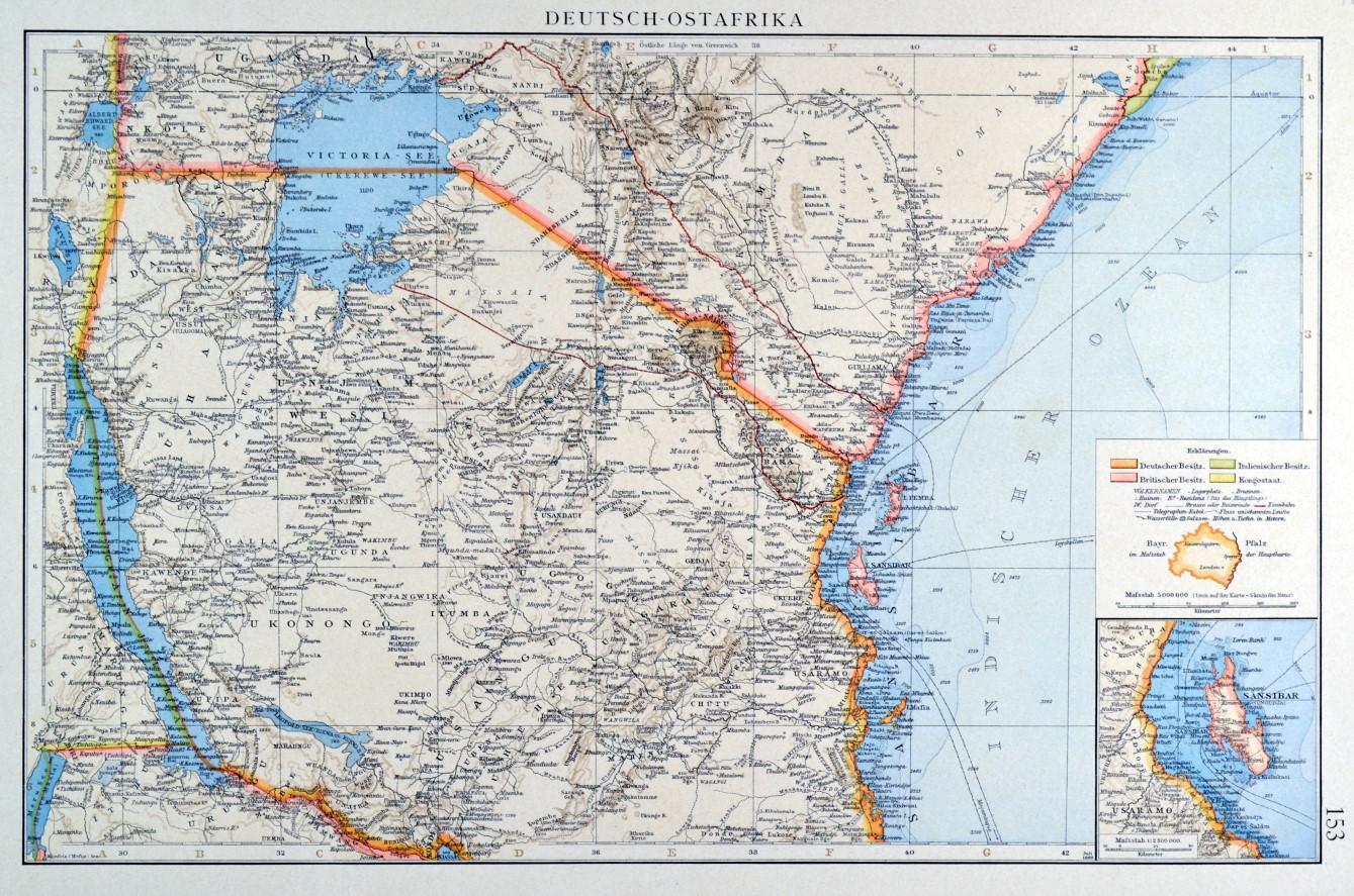Afrika Karte Deutsch.Afrika Ostafrika Karte Zvab