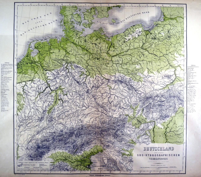 Deutschland Gebirge Und Gewasser Karte Deutschland Nach