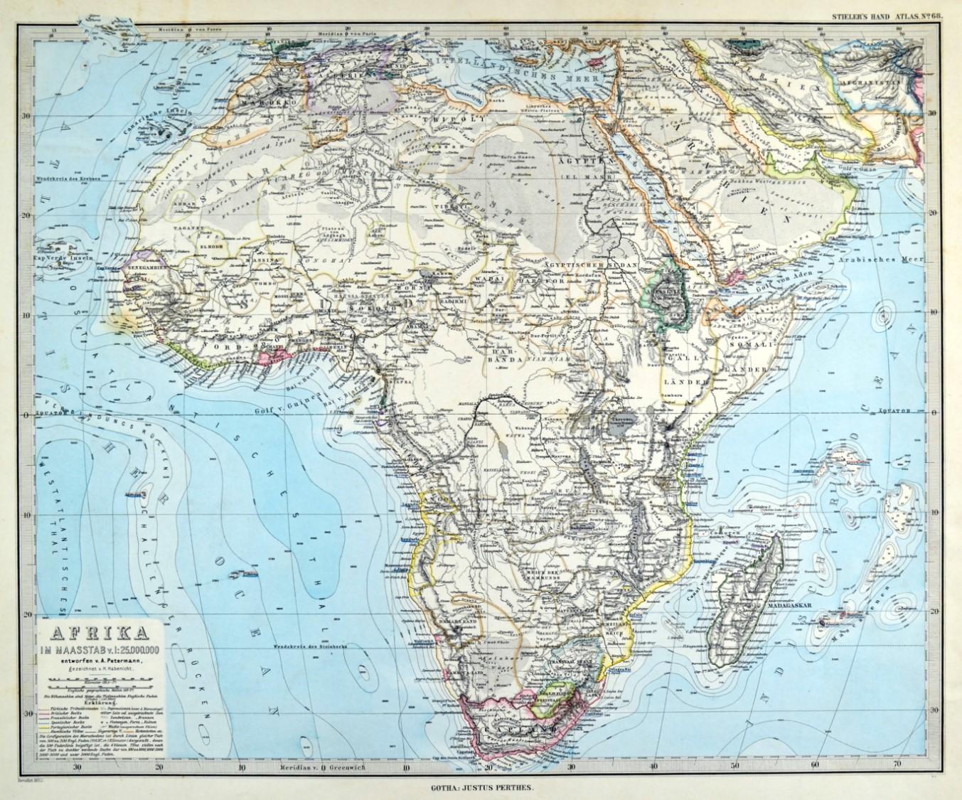 Karte Afrika.Afrika Karte