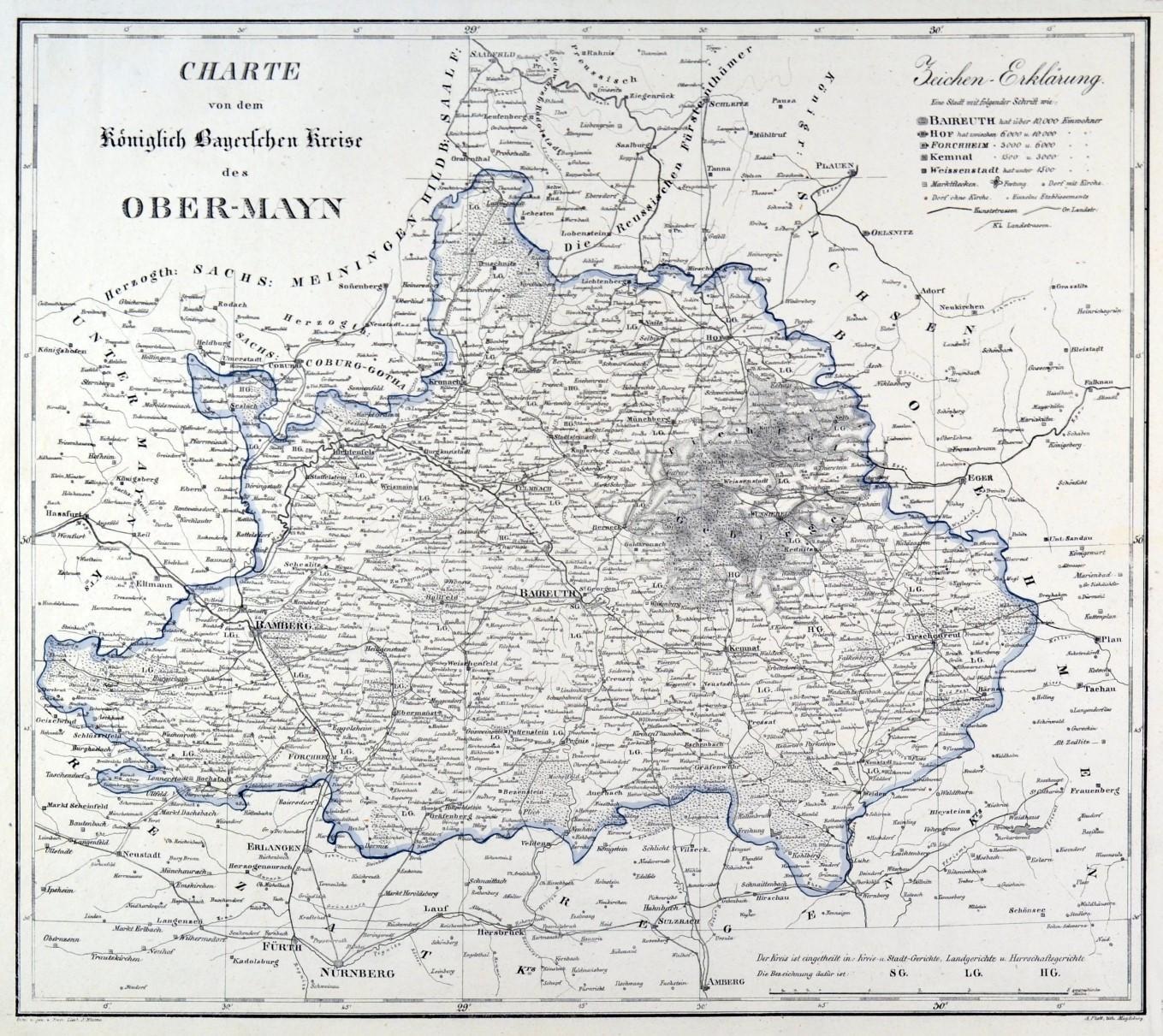 Oberfranken Karte.Franken Oberfranken Karte Zvab
