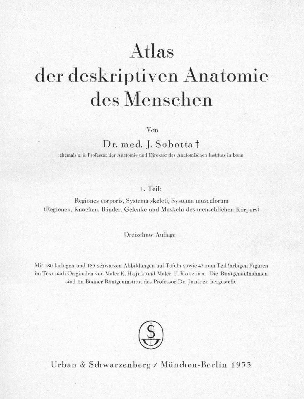 sobotta atlas der anatomie - ZVAB