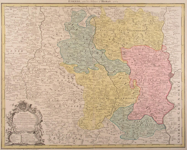 Lyon Karte.Lyon Karte Karte Des Gebietes Westlich