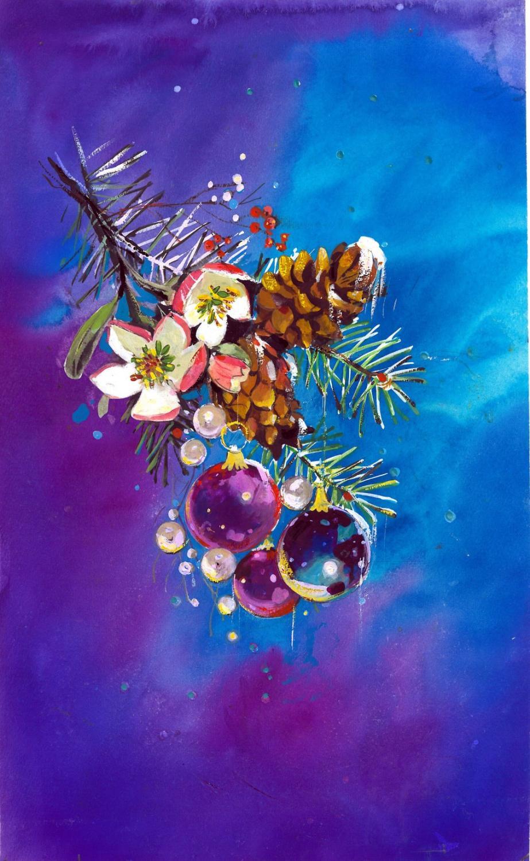 Einzelne Christbaumkugeln.Weihnachten Weihnachtskarten