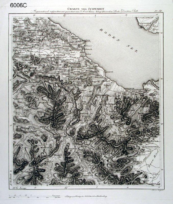 Bodensee Karte Karte Des Sees Von Langenargen Und Dem Schweizer