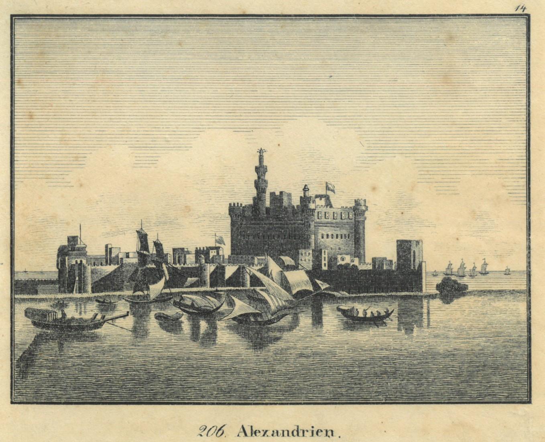 ALEXANDRIA. Gesamtansicht, im Vgr. Segelboote.