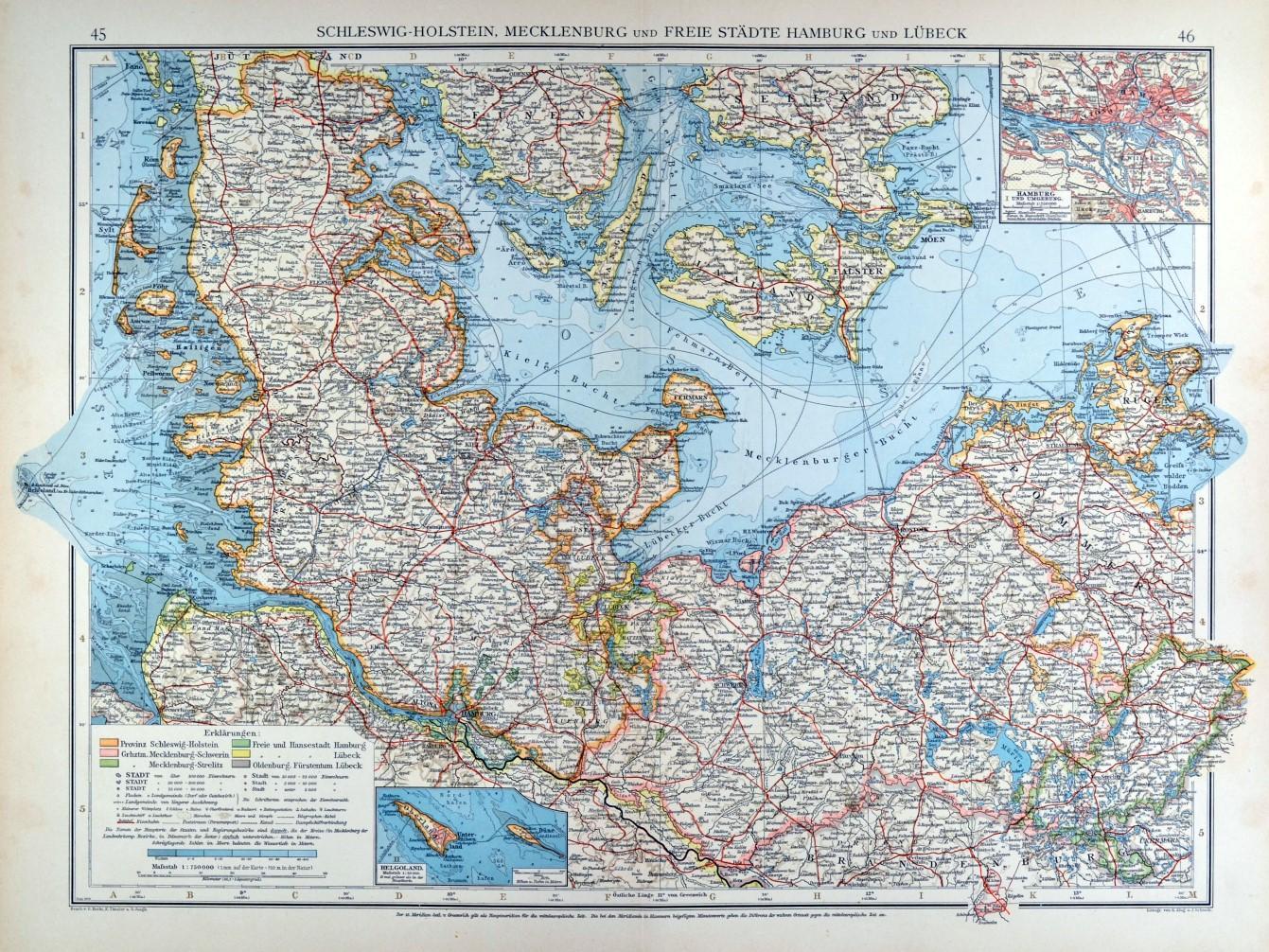 Schleswig Holstein Mecklenburg Karte Schleswig Holstein