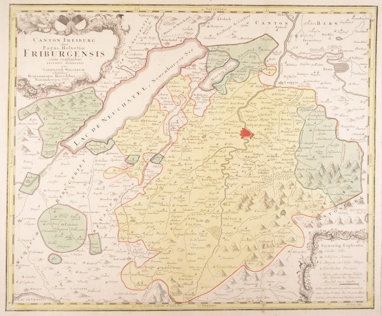 Freiburg Karte.Vialibri Freiburg Karte Canton Freiburg Sive Pagus