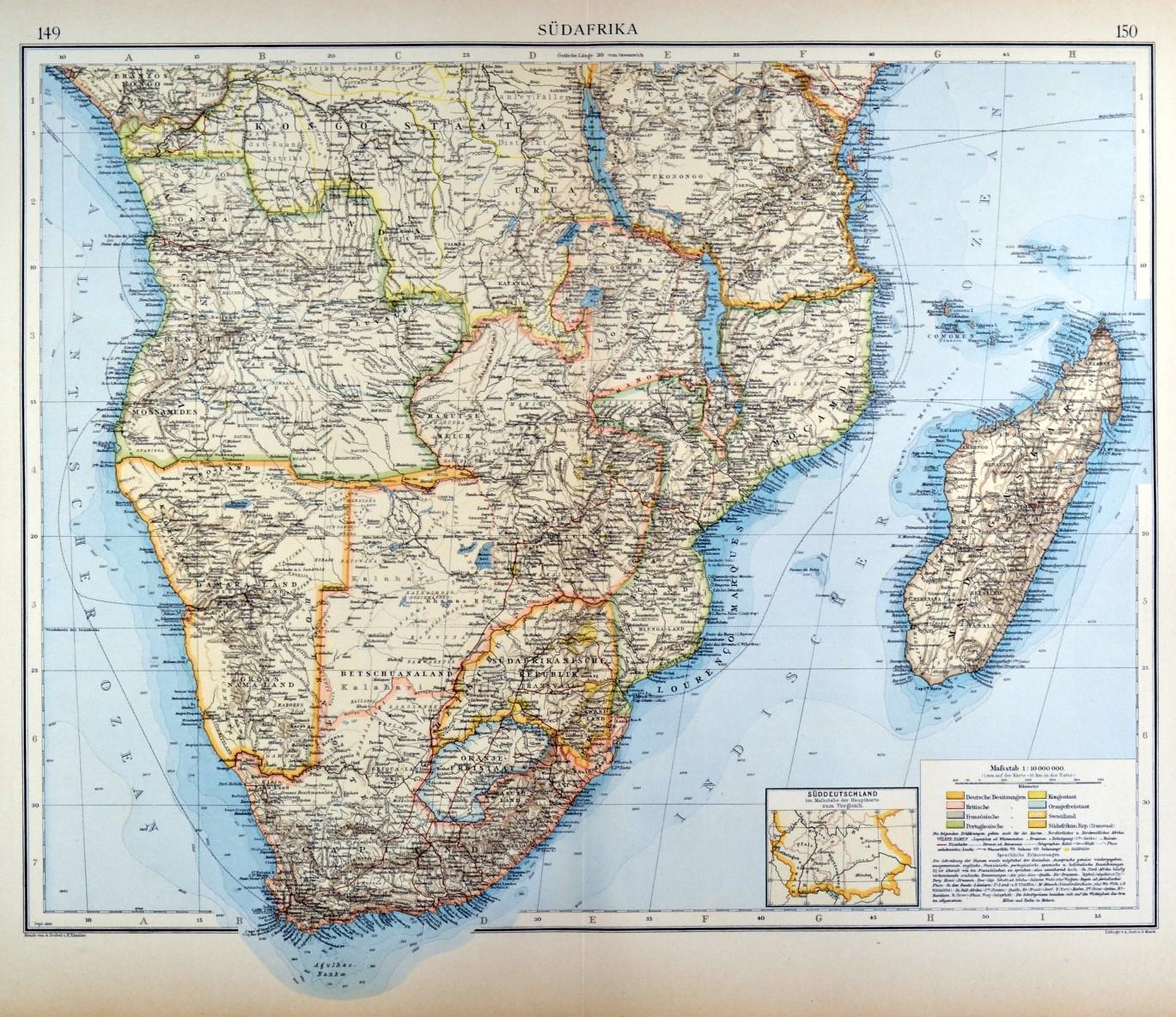 Südafrika Karte.Südafrika Karte