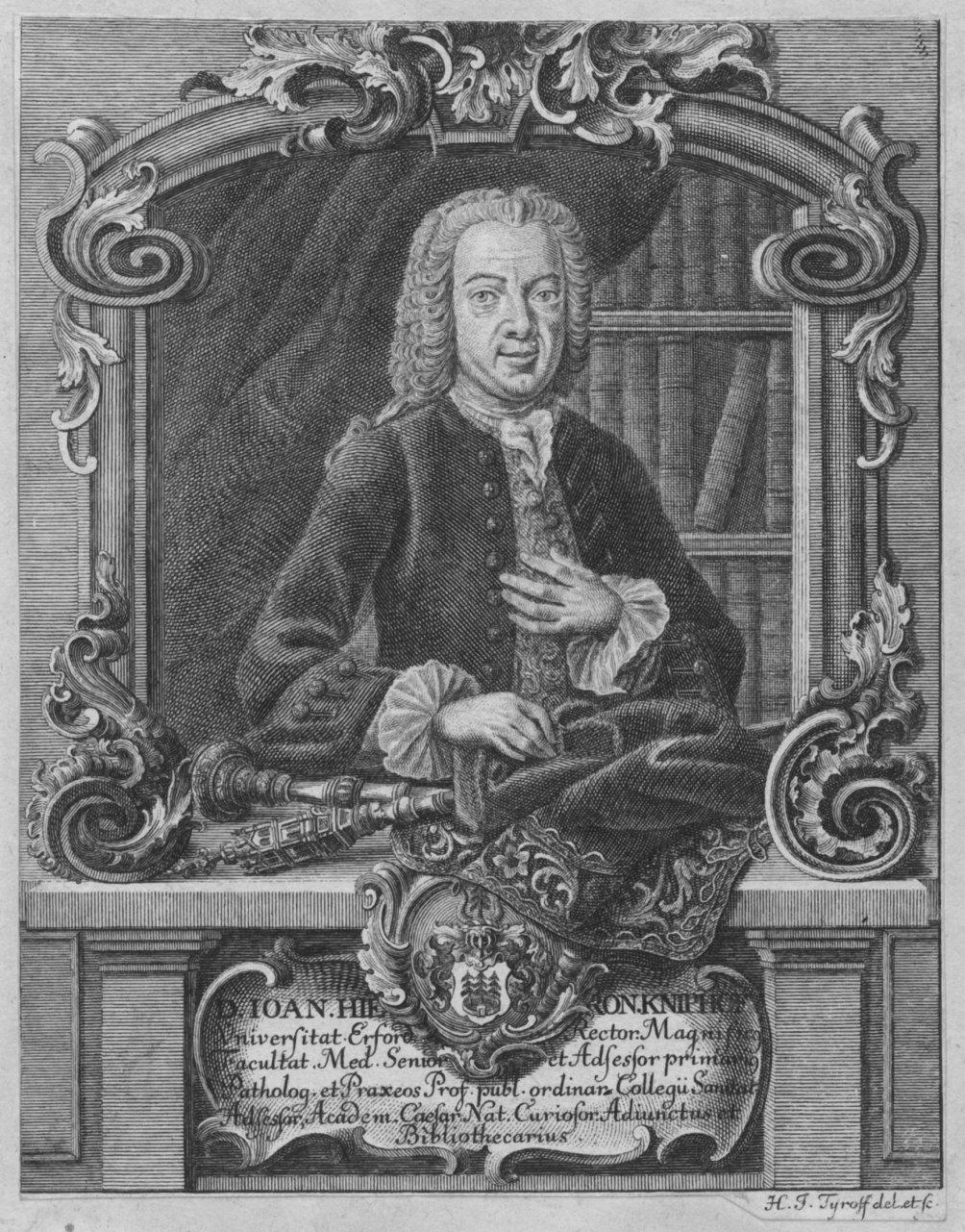 KNIPHOF, Johann Hieronymus (1704 - 1763). Halbfigur