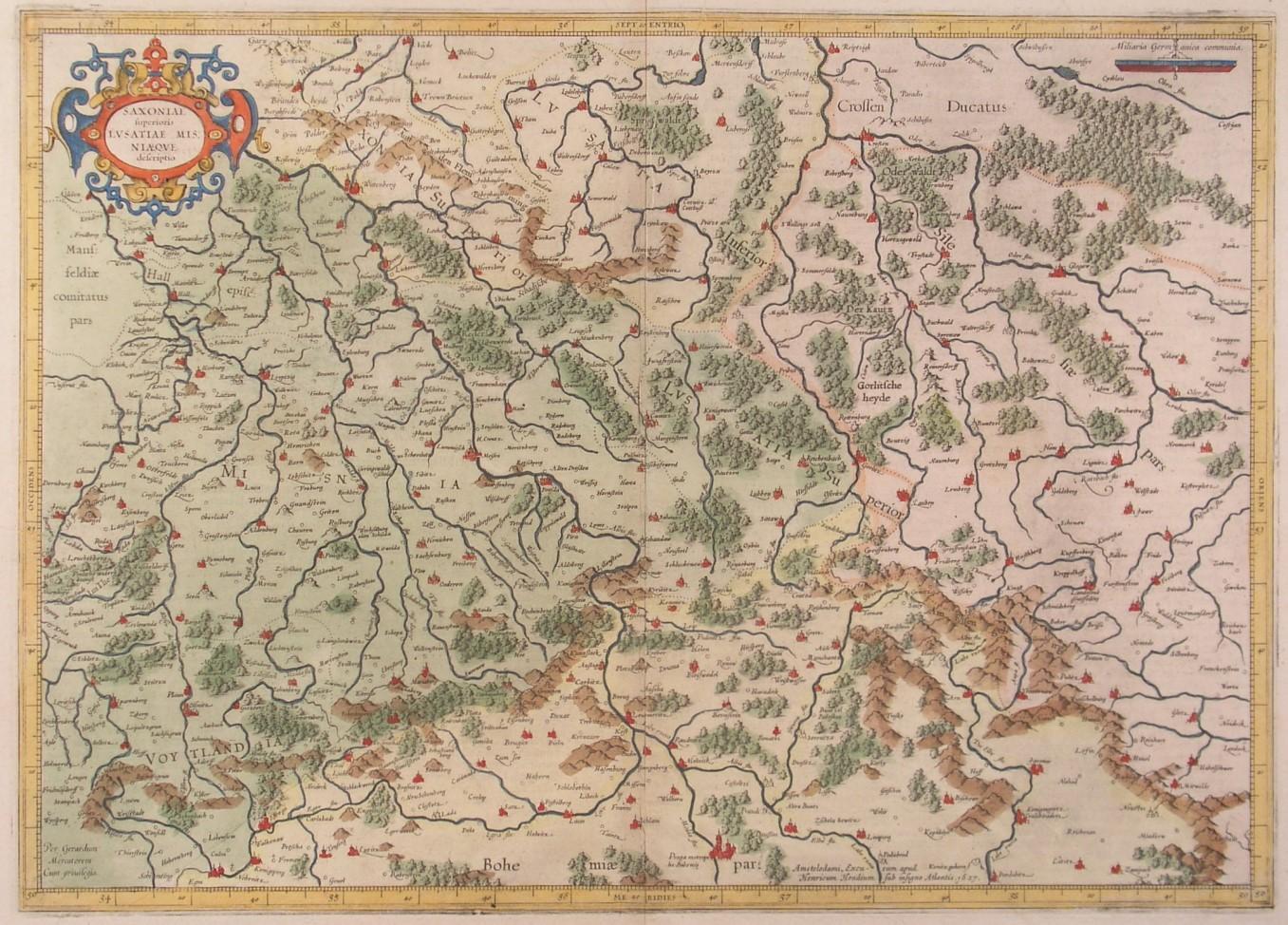 Lausitz Karte.Vialibri Sachsen Lausitz Karte Saxoniae Superioris