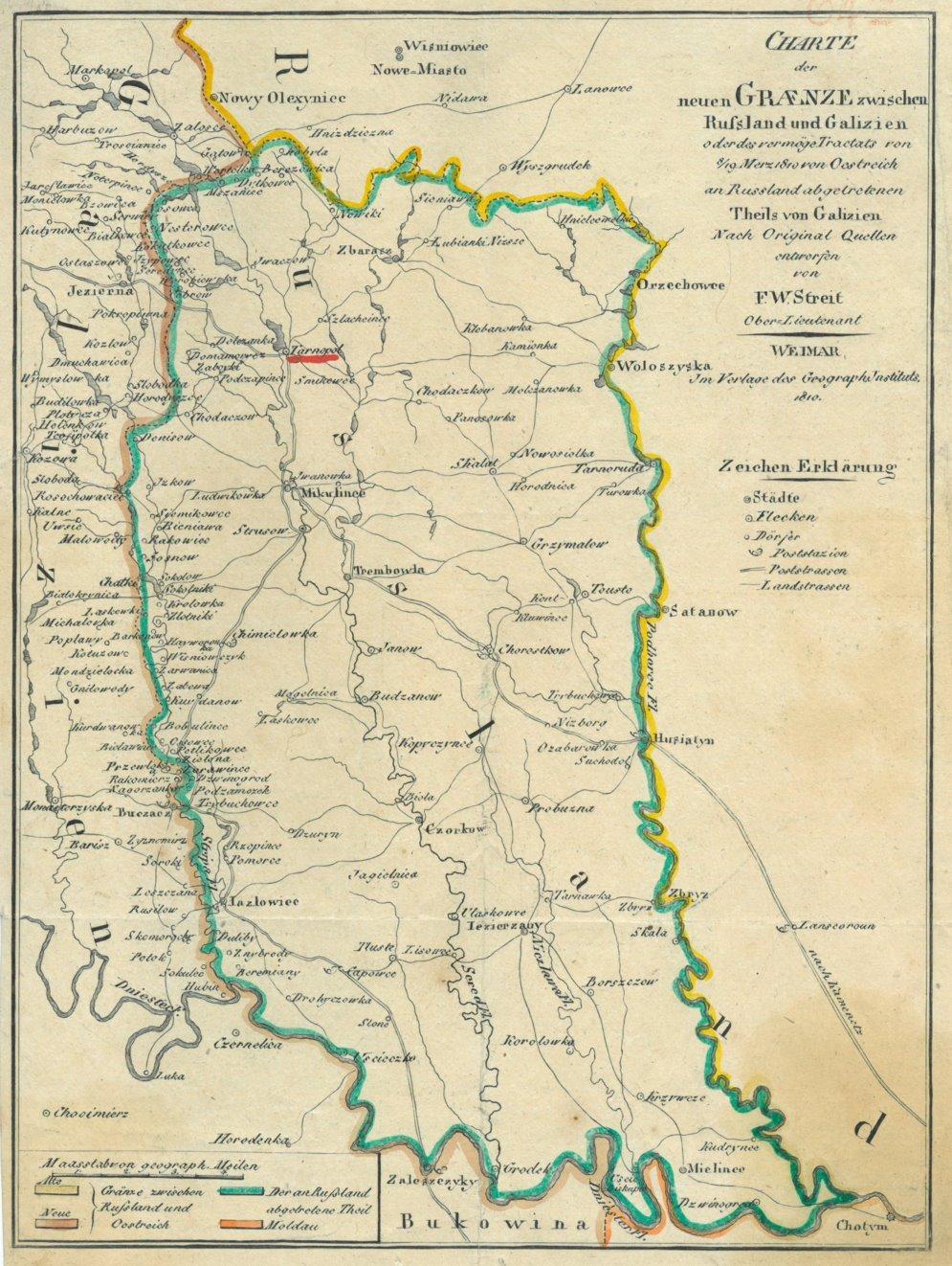 Galizien Karte.Galizien Karte