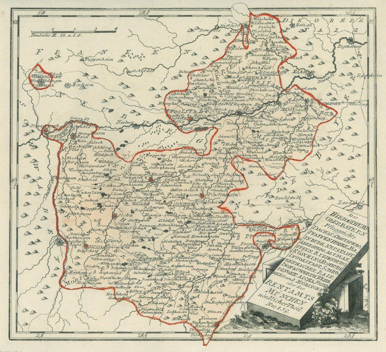 Karte Oberbayern.Oberbayern Karte