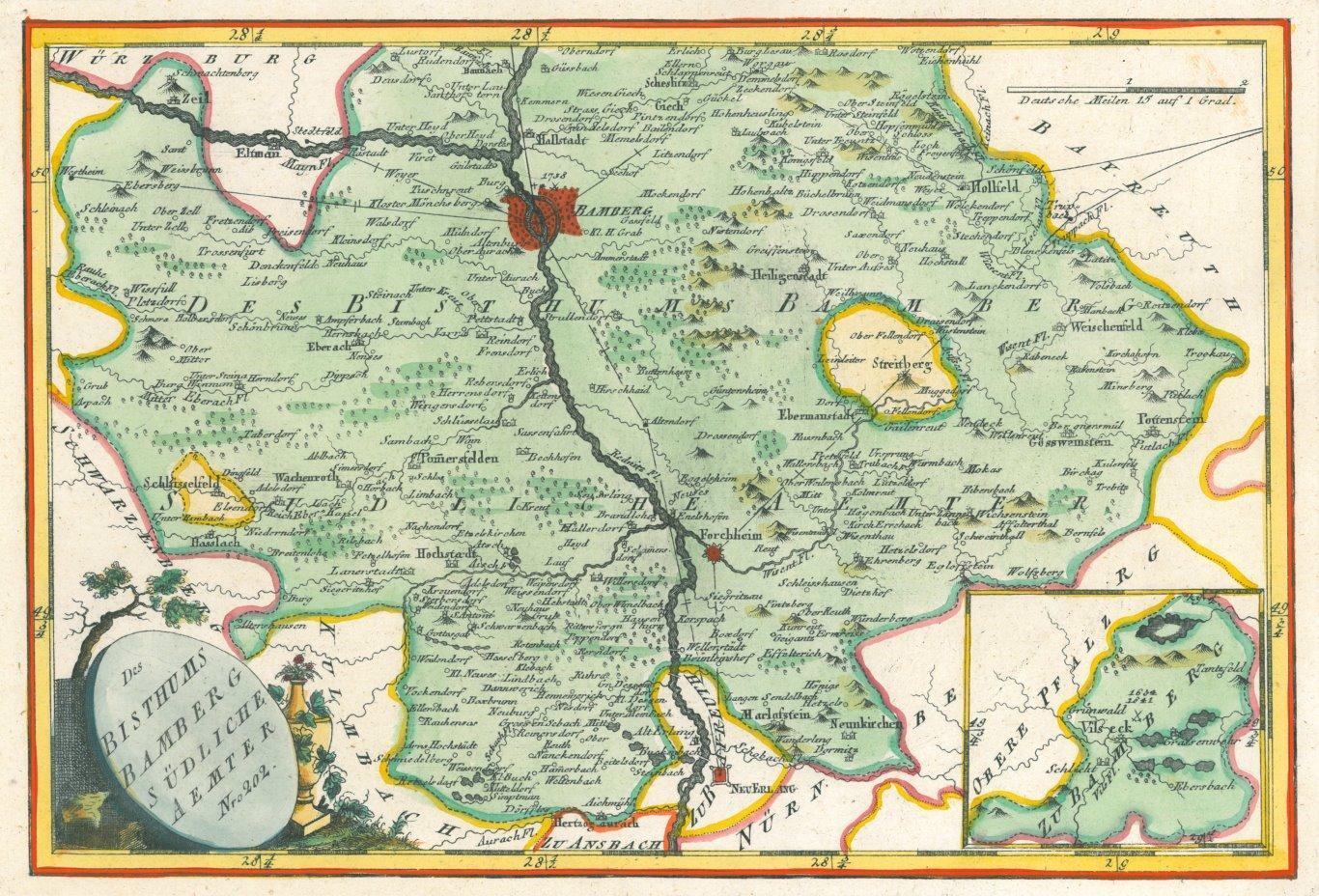 Karte Bamberg.Vialibri Bamberg Karte Des Bisthum Bamberg Sudliche