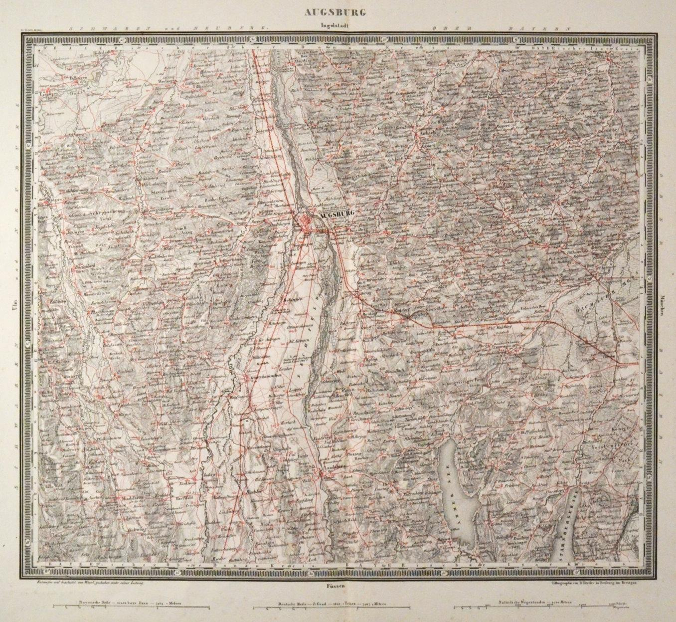 Schwaben Karte Deutschland.Schwaben Karte Schwabens Zvab