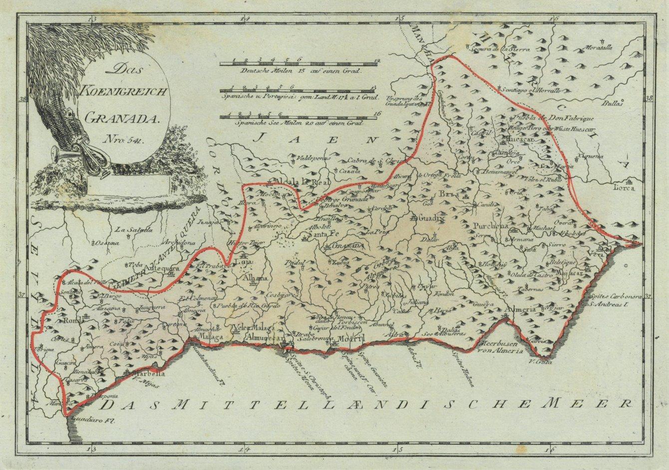Granada Karte.Granada Karte