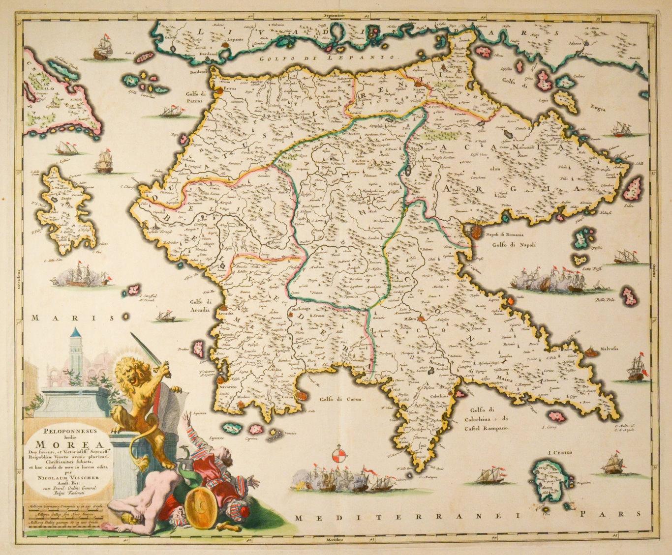 Griechenland Peloponnes Karte Deutsch.Griechenland Peloponnes Karte Zvab