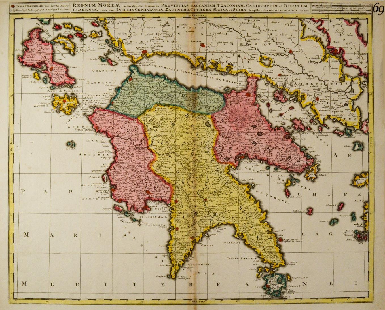 Karte Griechenland Peloponnes.Griechenland Peloponnes Karte