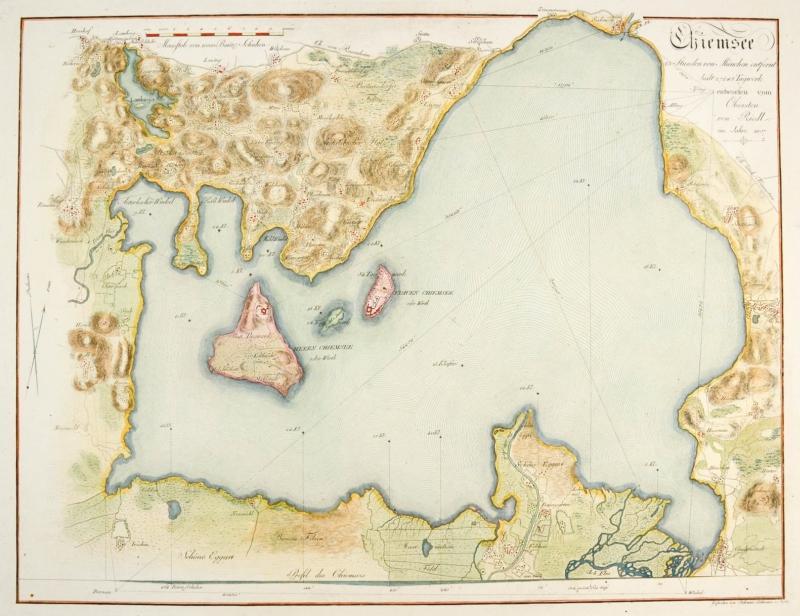 Chiemsee Karte.Chiemsee Karte