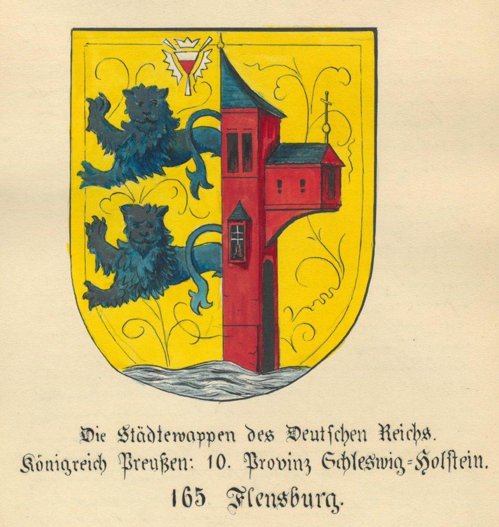 Flensburg Wappen Die Stadtewappen Des Deutschen Reichs