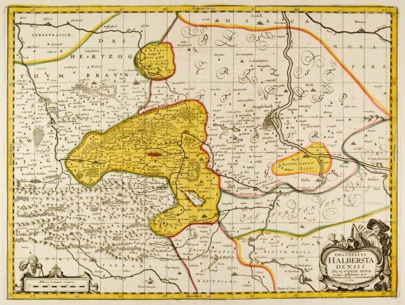 Vialibri Halberstadt Harz Karte Episcopatvs Halberstadensis