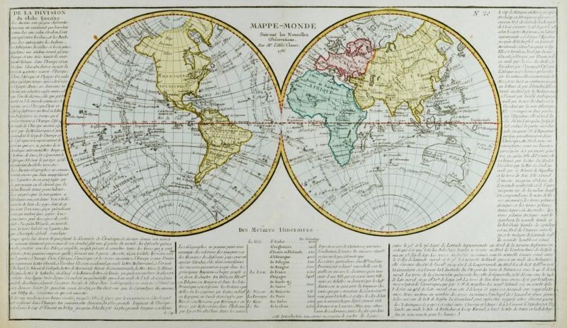 Vialibri Weltkarte Und Die Vier Erdteile Mappe Monde