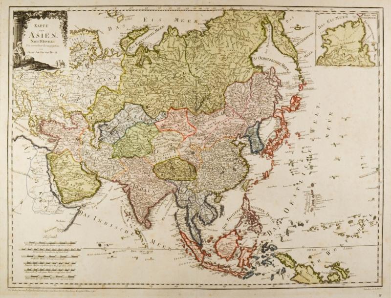 Karte Asien.Asien Karte