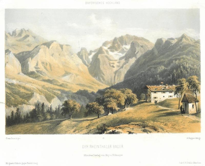 Der Rheintalbauer um 1860