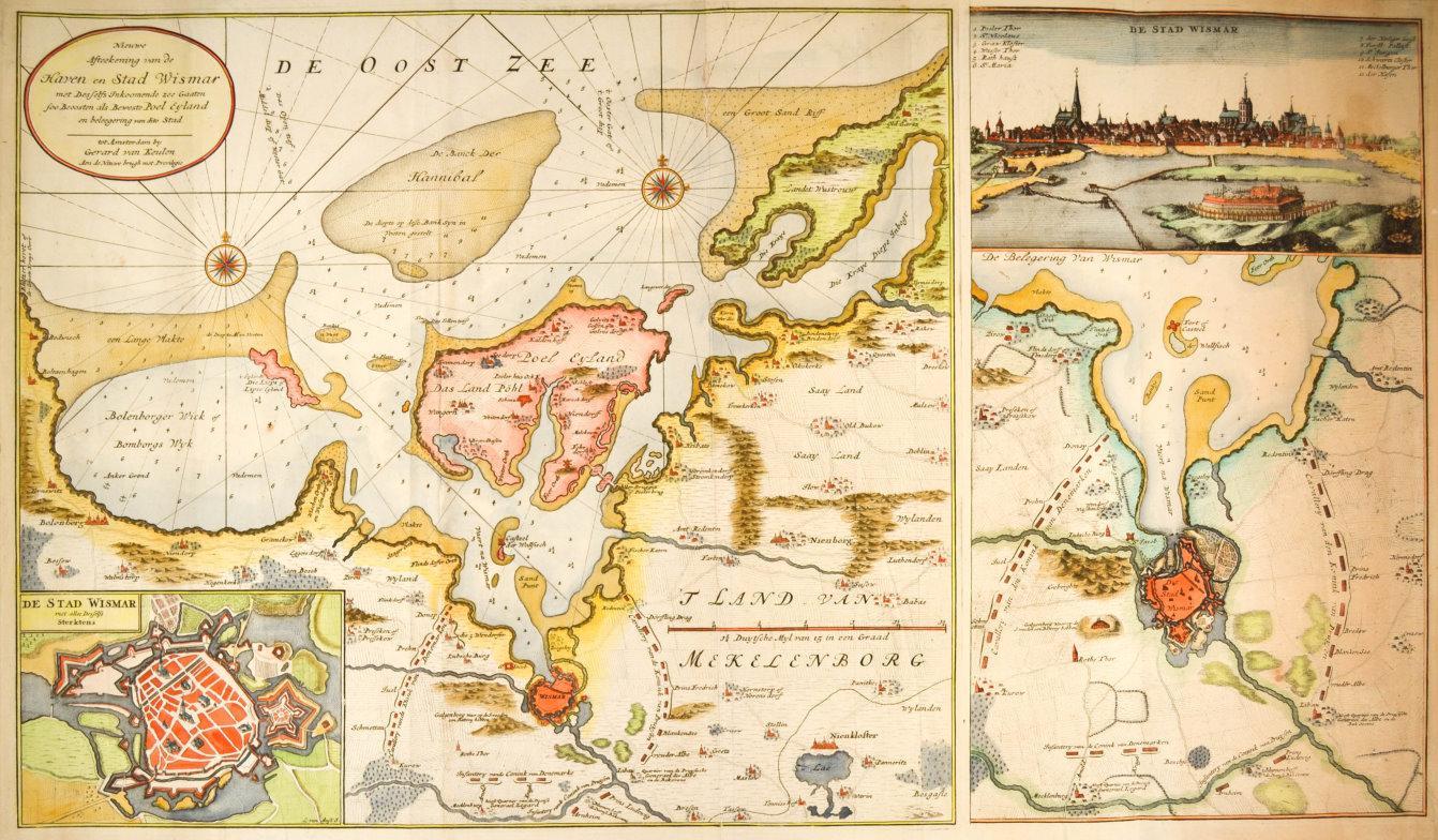 alte antik 1700 Landkarte Nord /& SÜDAMERIKA van Keulen Reproduktion Plan