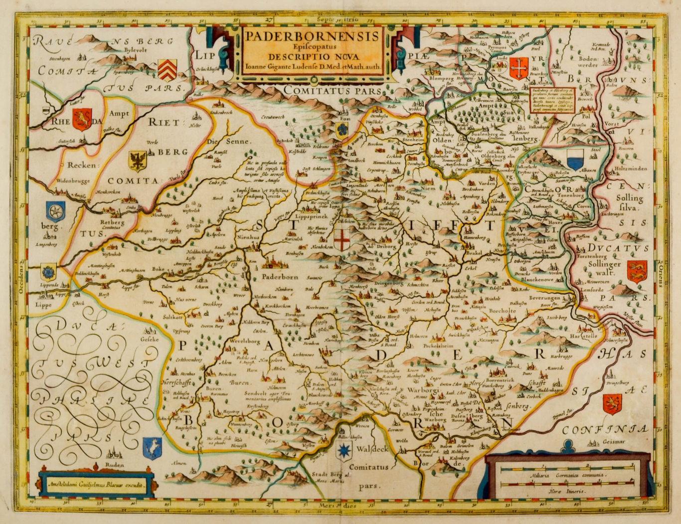 Karte Paderborn.Paderborn Karte