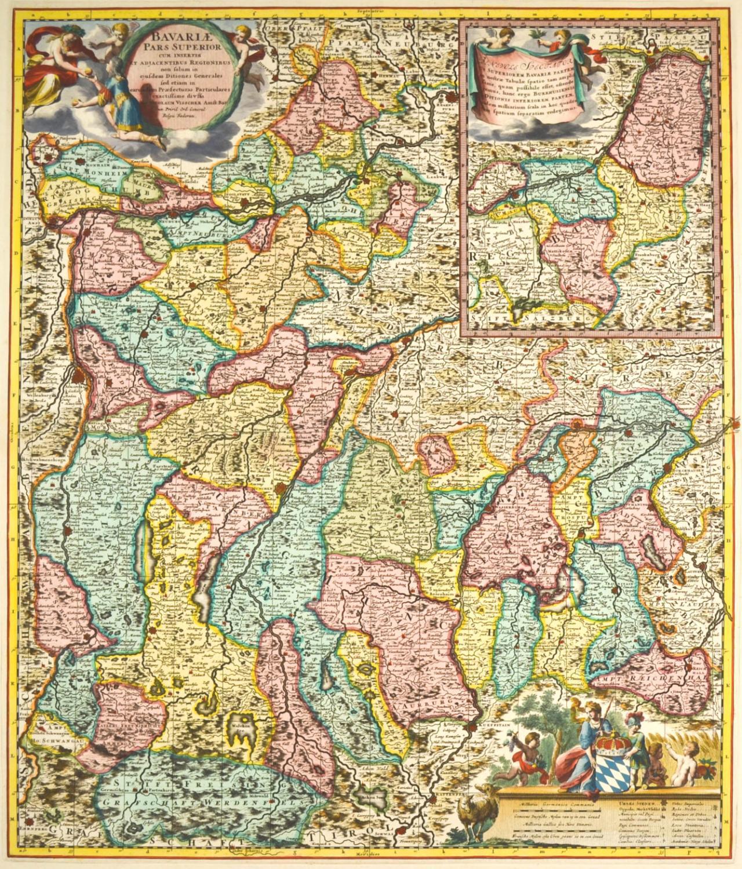 Vialibri Oberbayern Karte Bavariae Pars Superior