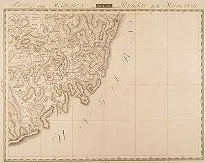 ZLIN/Mähren. - Karte. Südöstliche Umgebung von Zlin