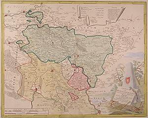 """KLEVE. - Karte. """"Charte vom Herzogthum Cleve worauf zugleich das Fürstenthum Meurs nebst ..."""